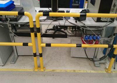 Konstrukcja stalowa spawana barierka